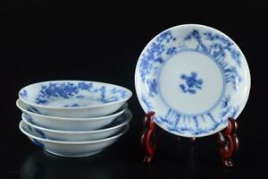 L292: XF Chinese Blue&White Landscape Flower pattern PLATE/dish 5pcs