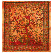 Indian Tree Of Life Wall Hangings Cotton Tapestry Boho Gypsy Handmade Bed Decor