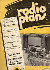 Revue Radio Plans - N° 37  -  Novembre  1950   - Postes récepteurs de Radio