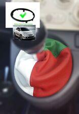 Soufflet Levier De Vitesse Pour Fiat 500 Abarth 07+ Cuir Italien + Cadre
