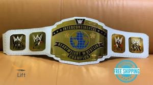 Intercontinental Heavy Weight Championship Replica Title 2014 Belt White 2MM