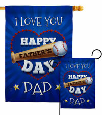 I Love You Dad Garden Flag Father's Day Family Decorative Gift Yard House Banner