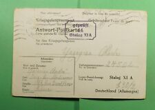 DR WHO 1942 FRANCE POW FREE FRANK POSTCARD TO GERMANY WWII CENSORED  f52971