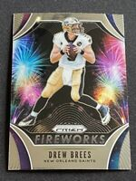 2019 Panini Prizm Drew Brees Insert Fireworks New Orleans Saints #FW-DB