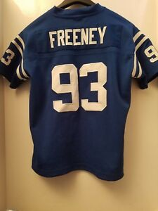 Dwight Freeney INDIANAPOLIS COLTS # 93 AUTHENTIC REEBOK SEWN jersey Youth  Small