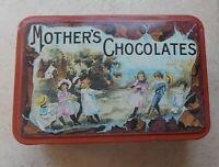Ancienne boite métal tôle Chocolat Mother's Chocolate USA logo vintage vtg 60s