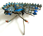 LARGE Qing Dynasty Kingfisher feather Hair Pin Chinese Coral Tian tsui