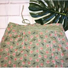 April Cornell Floral Maxi Skirt Crochet Accents Small