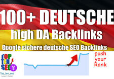 100 + DEUTSCHE Backlinks manueller Linkaufbau High DA dofollow SEO