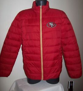 SAN FRANCISCO 49ERS Puffer Pack It Jacket with Tote Bag  LG XL 2X RED