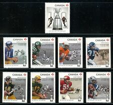Canada #2568i-2576i 100th Grey Cup Complete Set Die Cut 2012 Football CFL MNH