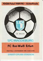 FDGB-Pokal 89/90 1. FC Magdeburg - FC Rot-Weiß Erfurt, 02.11.1989