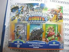 NEW Skylanders Giants: Battle Pack- Chop Chop, Shroomboom, Dragonfire Cannon
