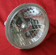 """PAIR 7"""" HALOGEN CLEAR H4 INCL. BULB  HEADLAMP HEADLIGHT FORD F100 MUSTANG BRONCO"""