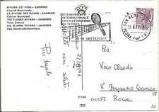 ANNULLO SPECIALE: CAMPIONATO INTERNAZ. POSTELEGRAFONICI DI TENNIS  SAN REMO 1972