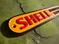 Shell Sign Shell Sold Here Cast Sign Heavy Casting Cast Sign Oil Vintage VAC006