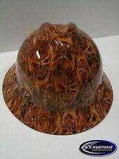 (Inferno pattern)  NEW Custom MSA V GARD Fas-Trac Rachet Full Brim Hard Hat