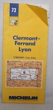 France - Michelin 1:200,000 Map - Clermont-Ferrand, Lyon - Sheet 73 - 1987