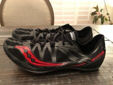Saucony Ballista Racing Race Track Shoes Black Red Colorway Mens Size 10.5 New