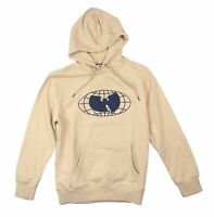 Wu-Tang Embroidered Bat Natural Pullover Sweatshirt Hoodie New Official Wu-Wear