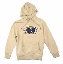 Wu Tang Wu Wear Embroidered Bat Natural Pullover Sweatshirt Hoodie New Official