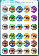 Contact Lenses Colored Kontaktlins FRESHTONE 1 year +Case + AVIZOR solution 10ML