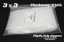 3x3 Clear 2 Mil Zip Bags Poly Plastic Reclosable Mini Small Seal Baggies Bag