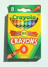 CRAYOLA 8 Crayons Vibrant School and Craft Supplies Kids Ages 3+ Non-Toxic