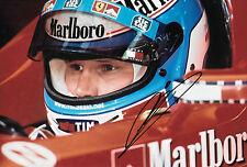 Mika Salo SIGNED 12x8, F1 Scuderia Ferrari Helmet Portrait 1999