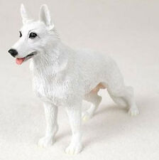 GERMAN SHEPHERD DOG Figurine Statue Hand Painted Resin Gift Pet Lovers White