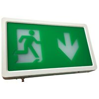 LED Exit Box Self Testing Emergency Lighting IP20 Maintained / Non Maintained