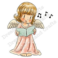 "Stempel ""Let Your Voice Sing"" Dreamerland Crafts, singender Weihnachtsengel"