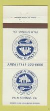New listing Matchbook Cover - Canyon Hotel Cacquet Golf Club Palm Springs CA 30 Strike