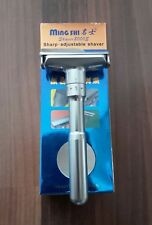 Merkur Futur Clone Adjustable Ming Shi 2000s Double Edge Chrome Safety Razor New