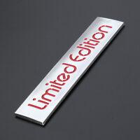 Red Limited Edition Logo Emblem Badge Plastic Sticker Decal Decor 10.4cm x 2.2cm