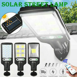 600W LED Solar Wall Light PIR Motion Sensor Outdoor Garden Security Street Lamp