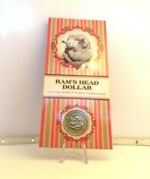2011 $1 UNC Ram's Head Dollar Coin in Card S Sydney Counterstamp ANDA