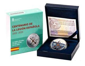 ESPAÑA: 10 euro plata 2020 proof LA LEGION ESPAÑOLA 100 aniversario