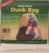 DUNK BAG-NYLON MESH-LAUNDRY-WASH-TOTE-FISH-GAME-TOYS-FOOD 19 X 23 DRAWSTRING