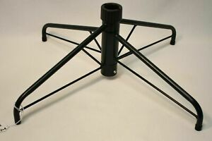 """Dark Green Metal Folding Artificial Christmas Tree Stand For 1.25"""" Pole 22 in."""