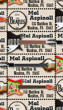 Beatles - Custom Return Address Stamps - Gummed & Perforated Sheet
