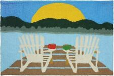Accent Throw Rug Doormat Nautical Beach JELLYBEAN RUGS, SUNRISE AT THE LAKE