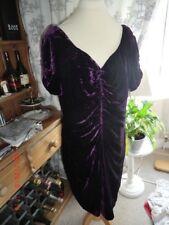 Purple  Velvet  Dress     UK 18