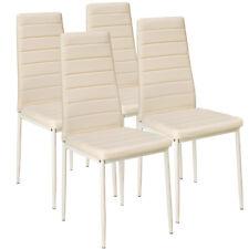 Set di 4 sedia per sala da pranzo tavolo cucina eleganti moderne robusto beige n