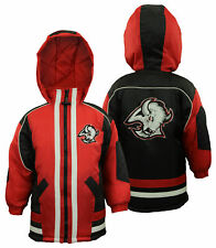 Buffalo Sabres NHL Boys Youth Vintage Full Zip Hooded Jacket Coat, Black & Red