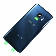 "Samsung Galaxy S9 5.8"" G960U Battery Back Door Glass Cover + Camera Coral Blue"