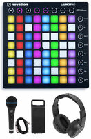 Novation LAUNCHPAD S MK2 MKII MIDI USB RGB Controller Pad+Mic+Headphones