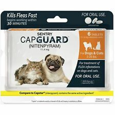 Sentry Capguard (nitenpyram) Oral Flea 2-25 lbs Small Dog & Cat Exp 2/20