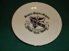 """Sigma Sigma Sigma Sorority 8 1/2"""" plate, great gift or momento, nice packaging"""