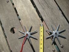 Vintage Old Industrial Farm Cast Aluminum Spiked ***  WHEELS GEARS  *** Lot of 2